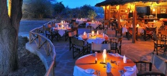 Satao Camp - Outdoor dining