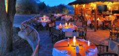 Dining area at Satao Camp