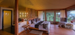 The interior of a room at Loisaba Tented Camp