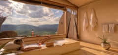 Enjoy a peaceful bath with breathtaking views